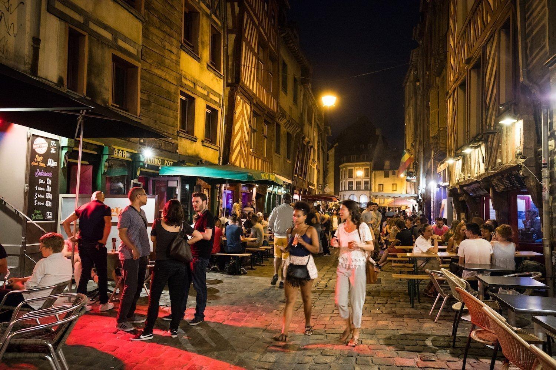 """Rue Saint-Michel ou """"rue de la soif"""" à Rennes"""