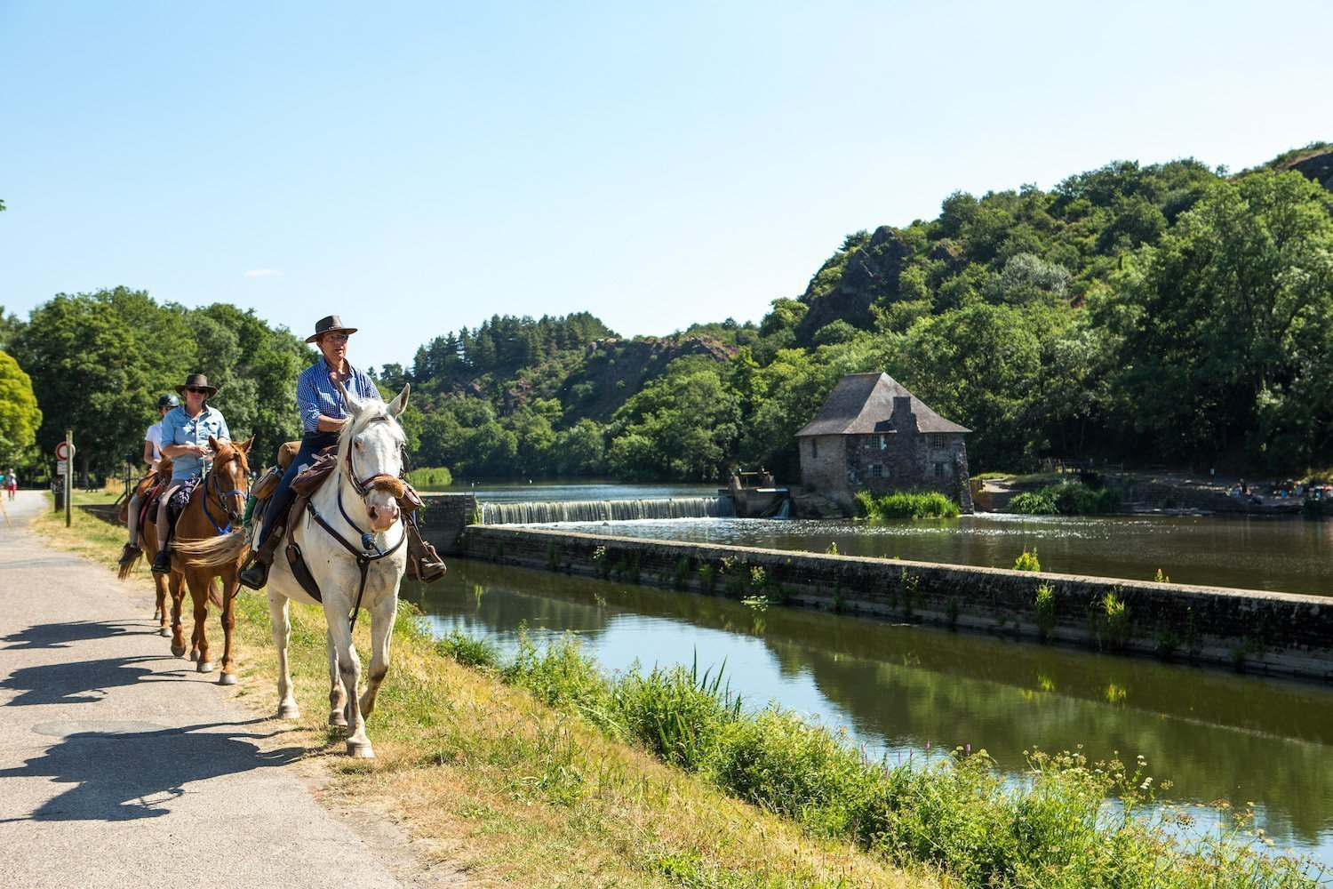Horse ride at the Moulin du Boël in Bruz