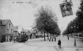 Tramway sur le mail à Rennes