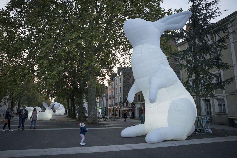 Les lapins géants au Festival Maintenant