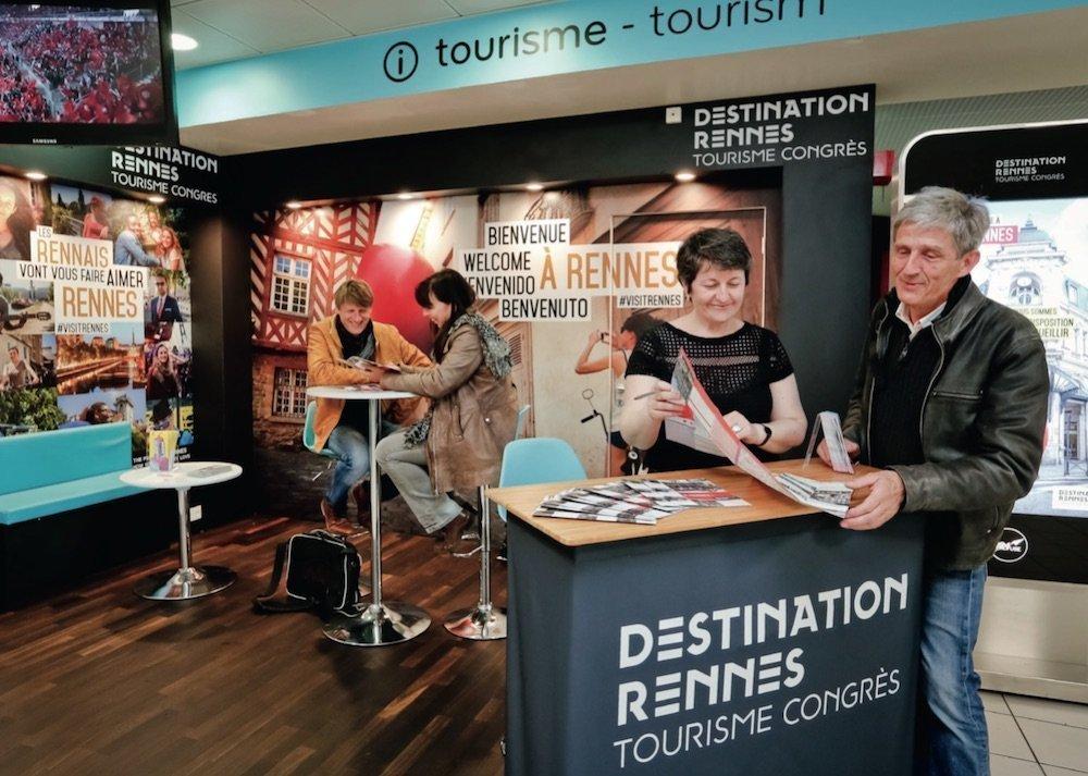 Accueil Destination Rennes à l'aéroport de Rennes-St Jacques