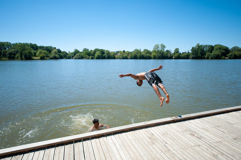 Baignade aux étangs d'Apigné