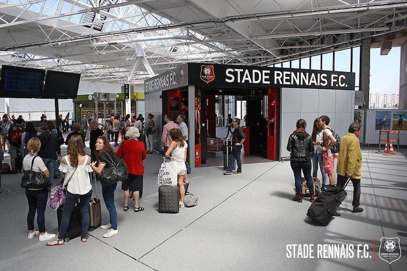 Boutique du Stade rennais en gare de Rennes