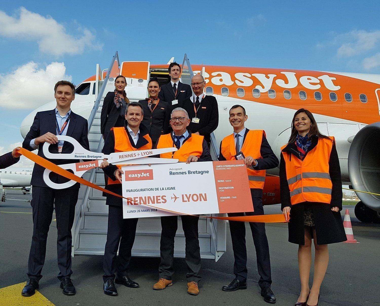 Inauguration de la ligne Rennes-Lyon d'Easy Jet