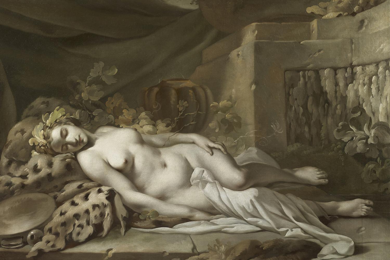 Bacchante endormie, exosition Eloge du sentiment