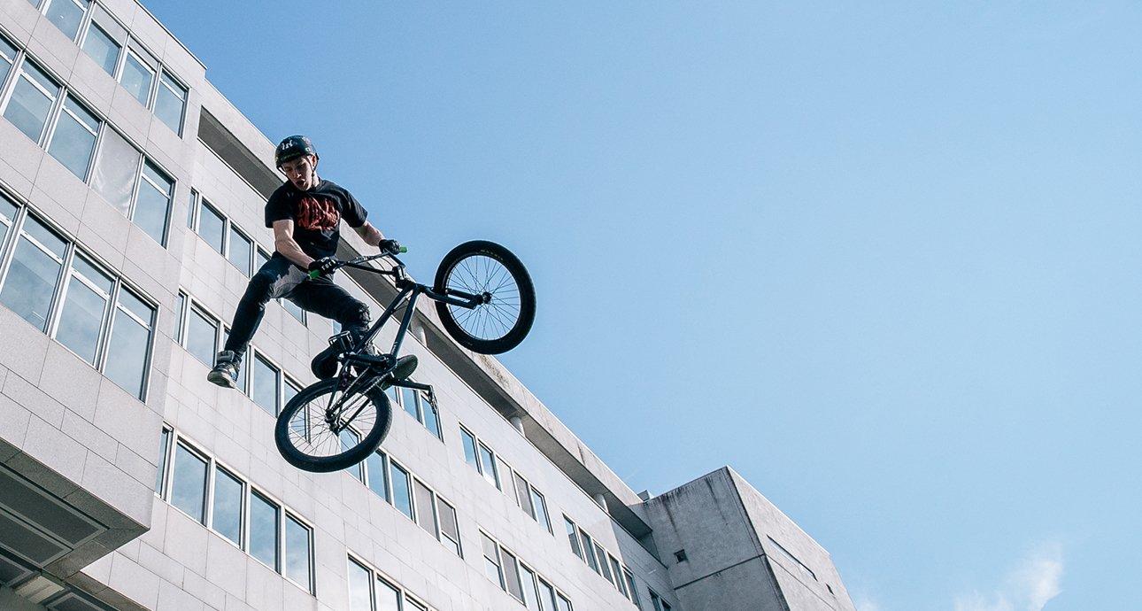 Démonstration de BMX à Rennes