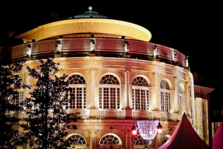 Illuminations sur l'Opéra de Rennes