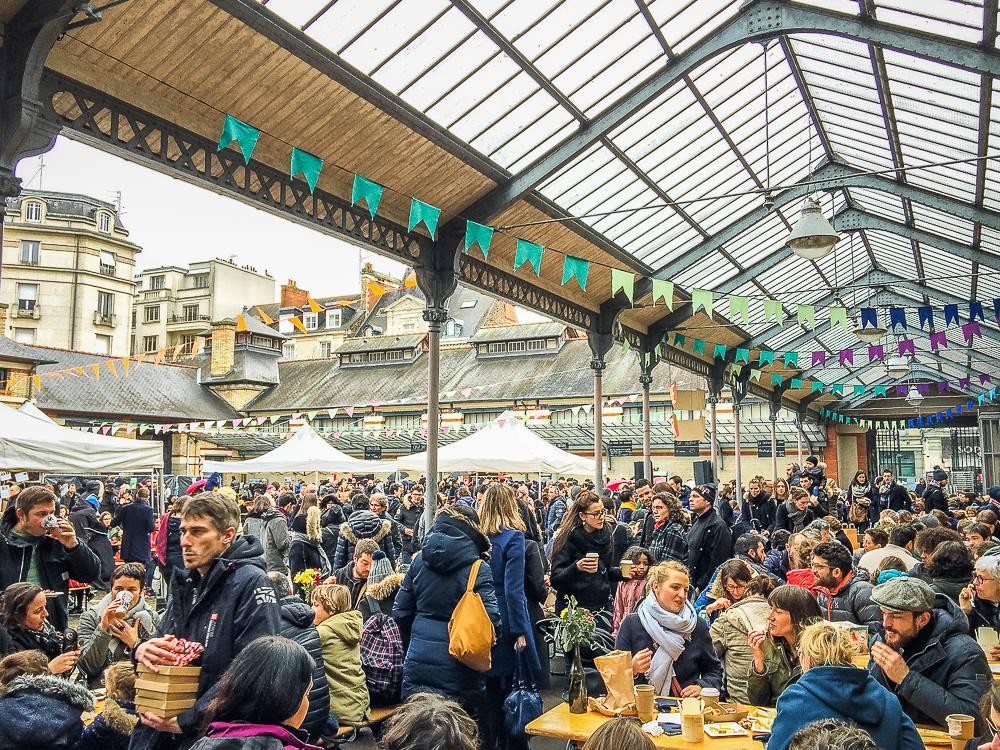 """Le """"Marché à manger"""" à la criée à Rennes"""