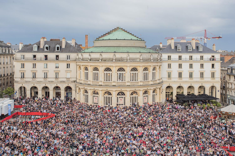 Opéra Carmen place de l'Hôtel de ville à Rennes