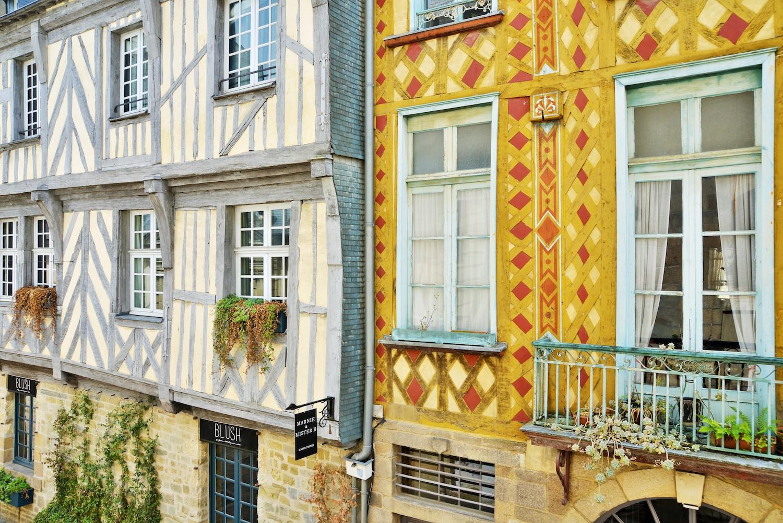 Maisons à pans de bois à Rennes