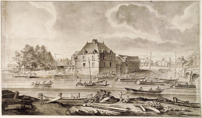Un port fluvial sur la Vilaine à Rennes