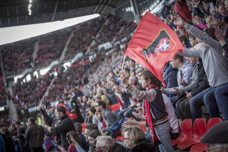 Supporters du Stade Rennais au Roazhon Park