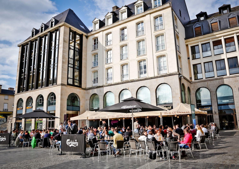 La terrasse du Delirium à Rennes