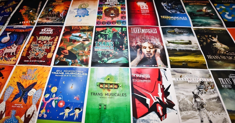 Les affiches des Transmusicales de Rennes