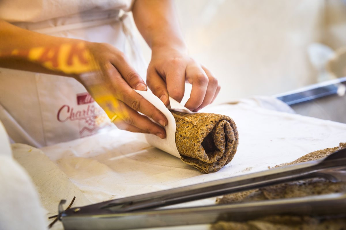 La fameuse galette-saucisse à Rennes