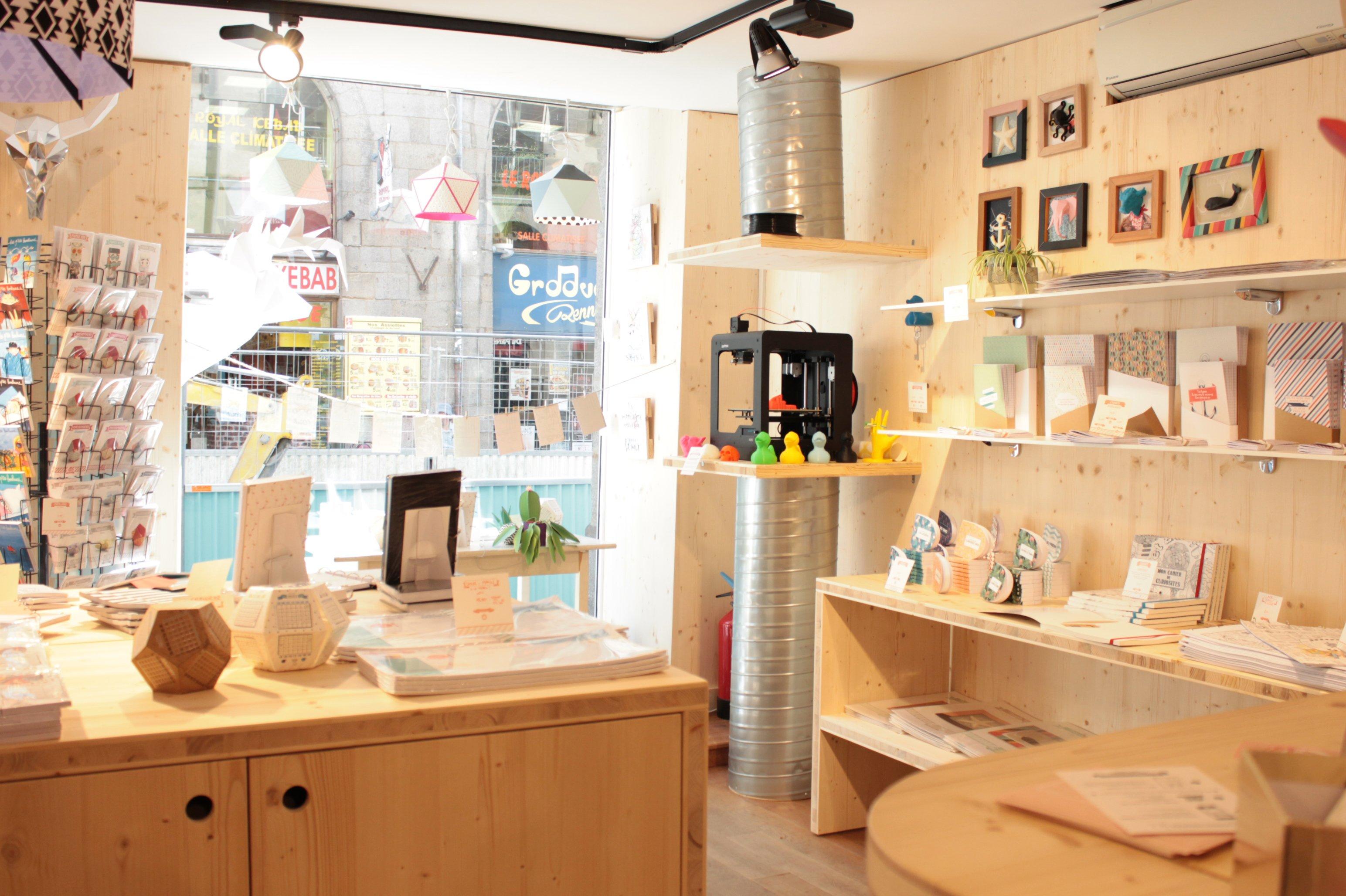 La boutique Agent Paper à Rennes