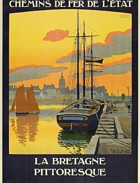 Affiche Bretagne Express
