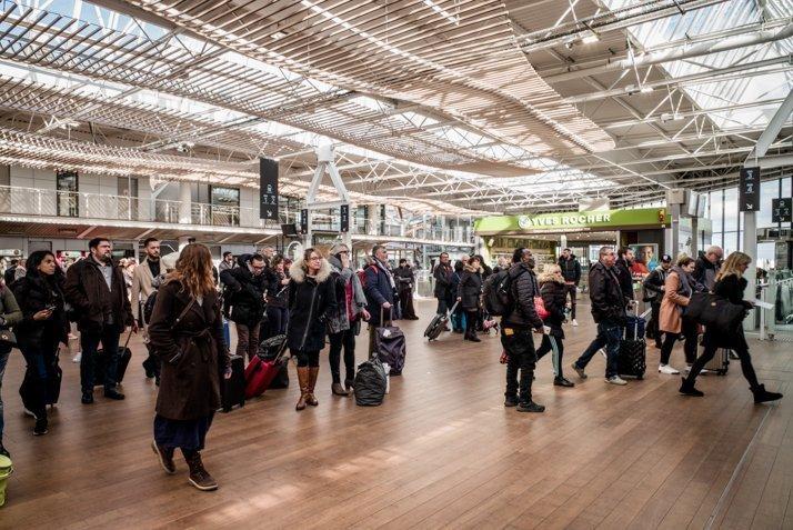 Commerces au sein de la gare de Rennes
