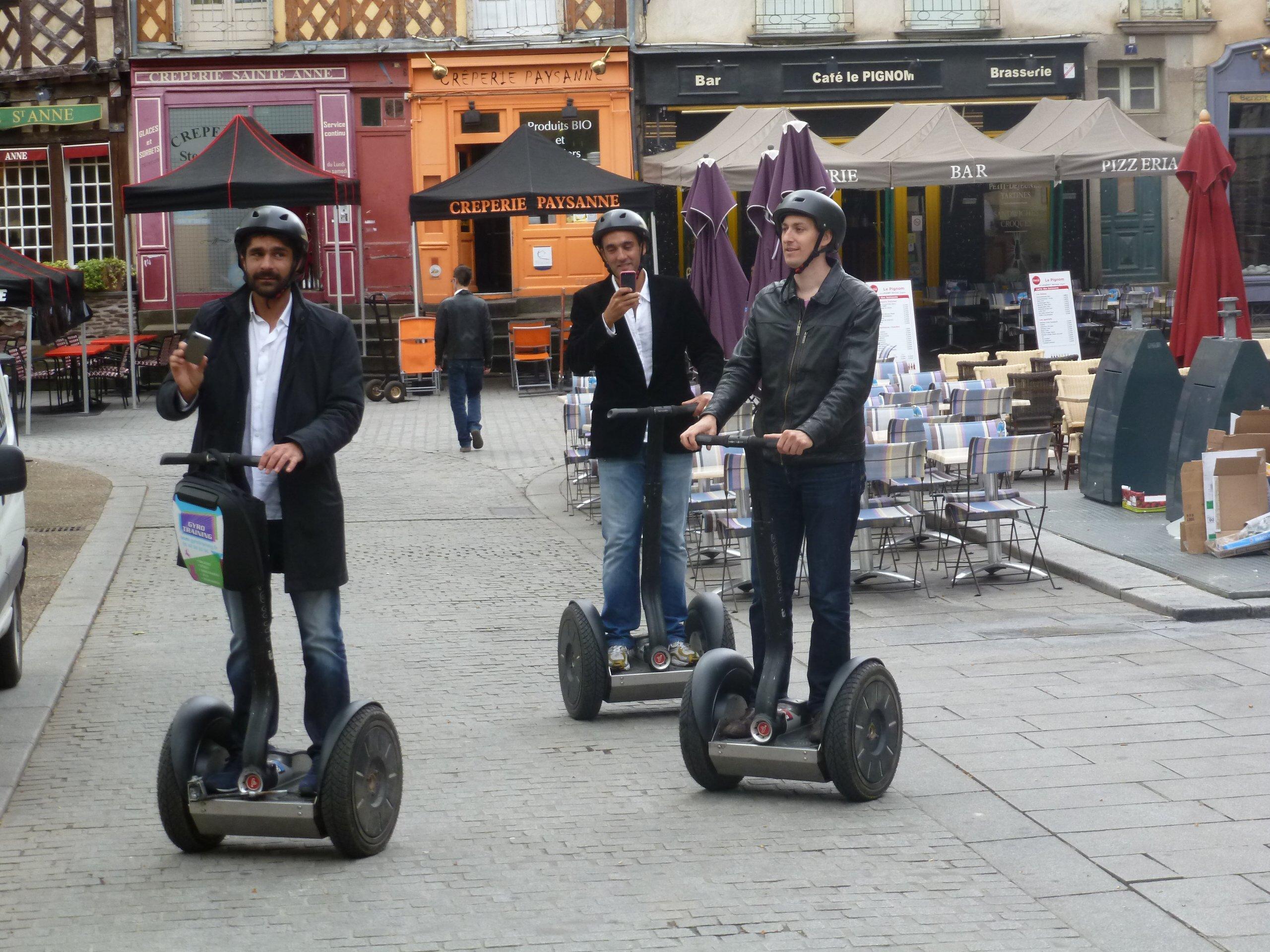 Balade en Gyropode dans les rues de Rennes