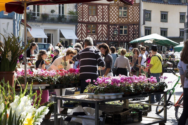 Le marché aux fleurs de Rennes