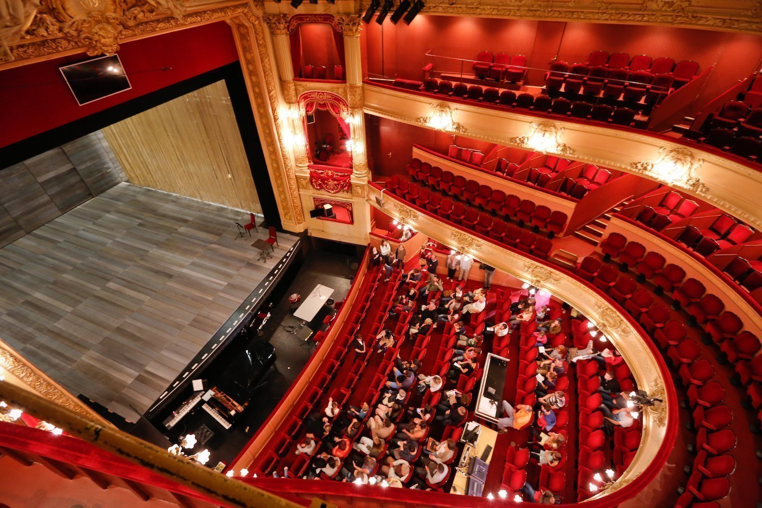 Inside the Rennes Opera house