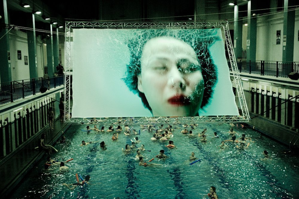 Cinema at the Saint-Georges swimming pool