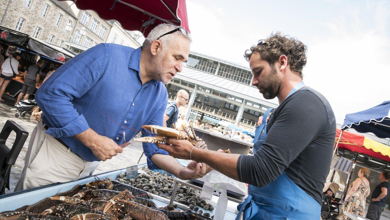 Marc Feldman au marché des  Lices de Rennes
