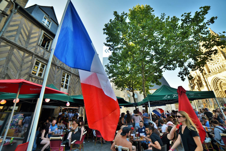 Les terrasses de Rennes en pleine coupe du monde
