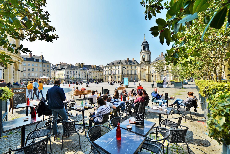 Terrasse place de la Mairie à Rennes