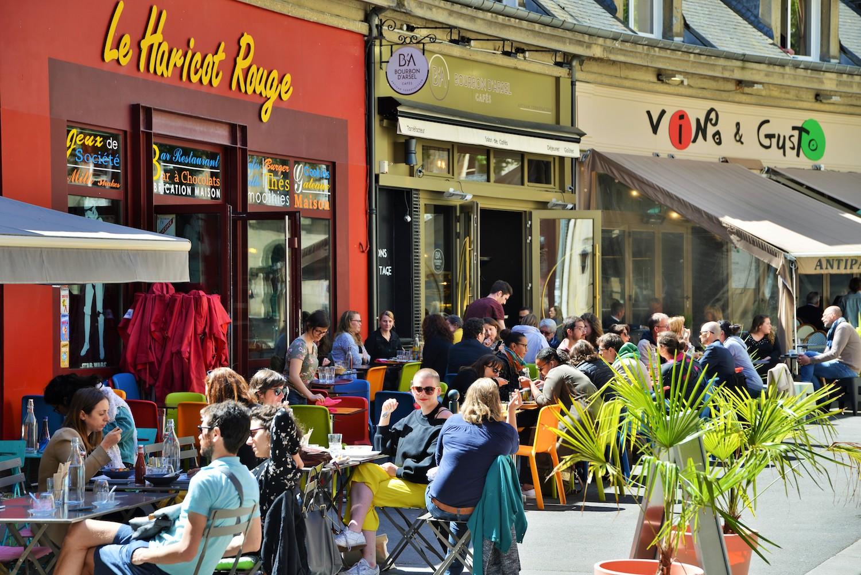 Terrasse rue Baudrairie à Rennes