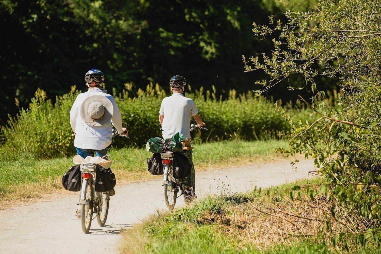 Bike aboard of the Vilaine