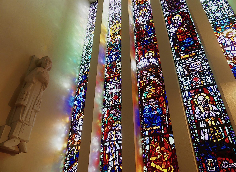 Vitrail de la chapelle de la Sainte-Famille