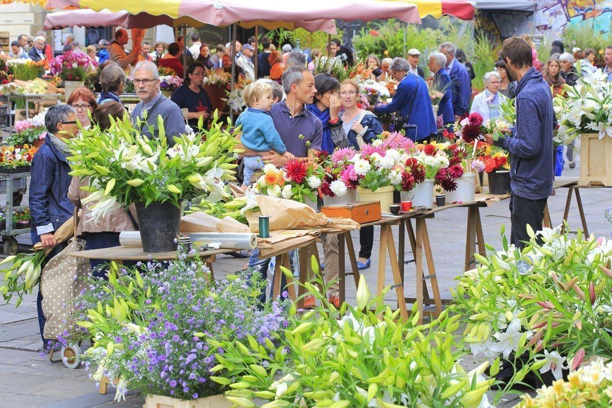 Mercado del lices en Rennes