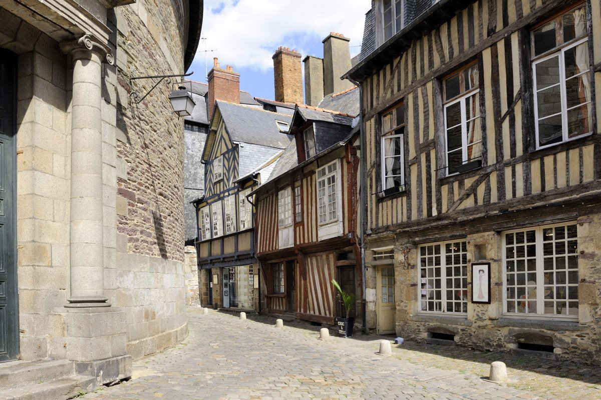 Half-timbered houses in Rennes