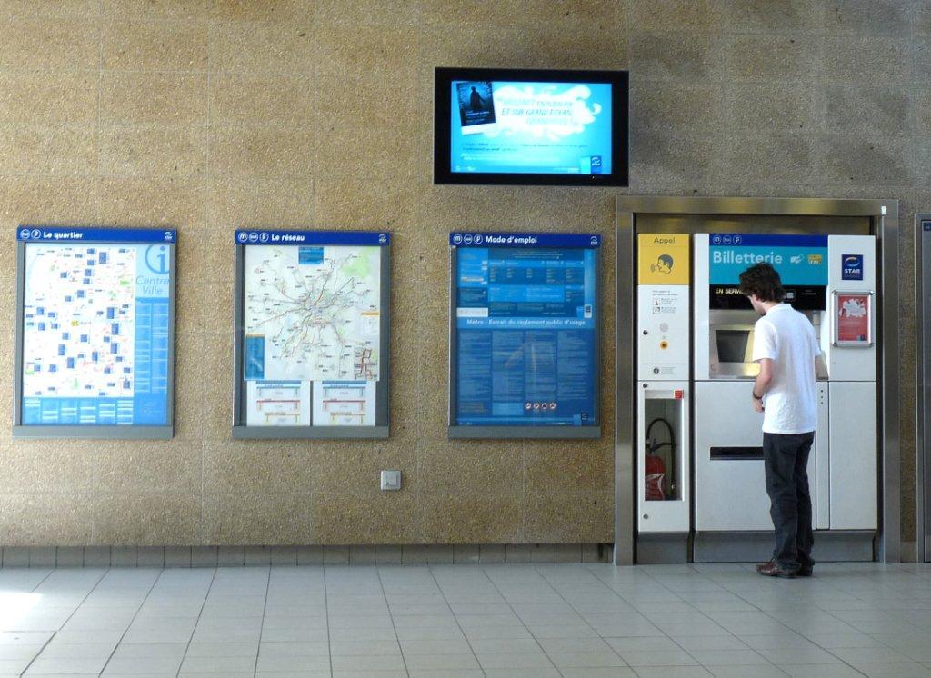 Station de métro à Rennes