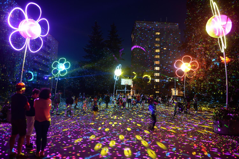 Fleurs de lumière par la compagnie Spectaculaires