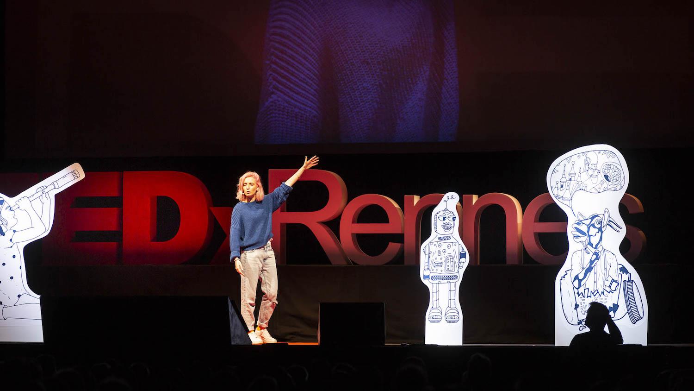 Elly Oldman à TedX Rennes en 2019