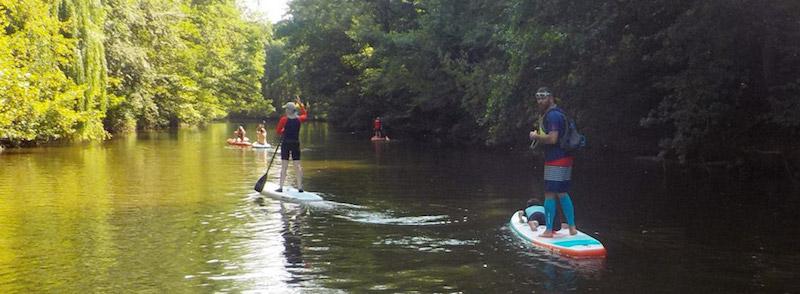 Balade sur la Vilaine en paddle