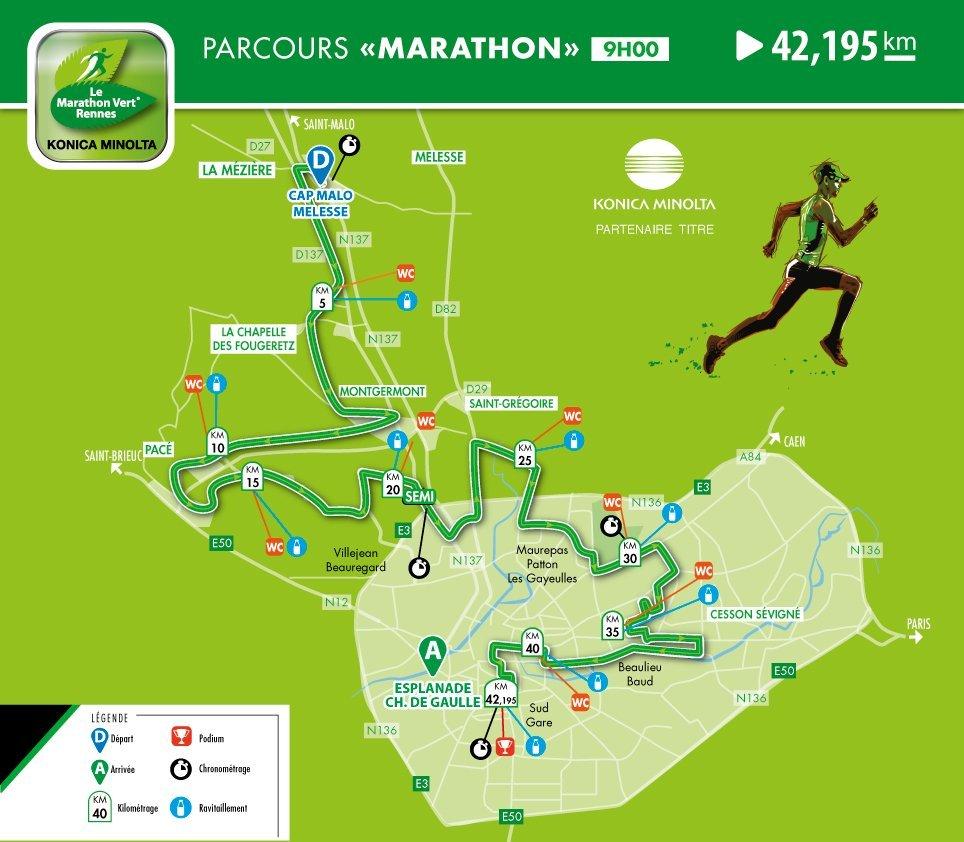 Rennes Green Marathon course