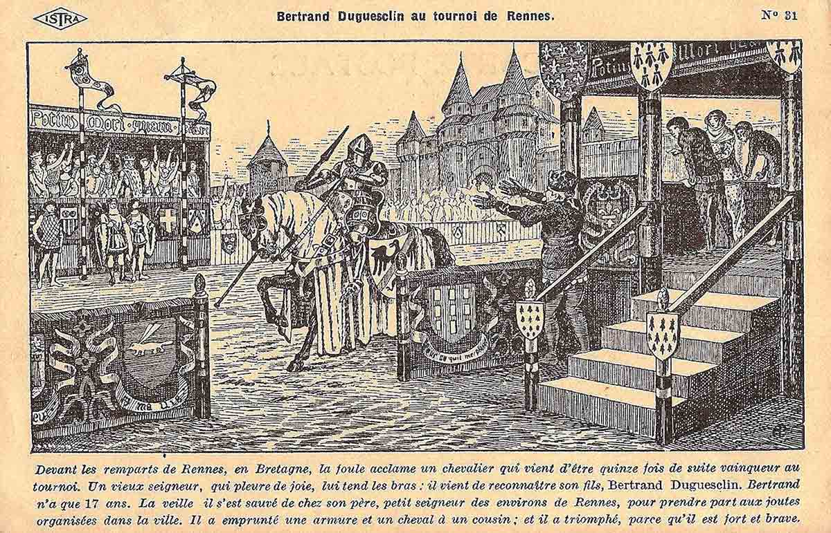 Bertrand Duguesclin au tournoi de Rennes