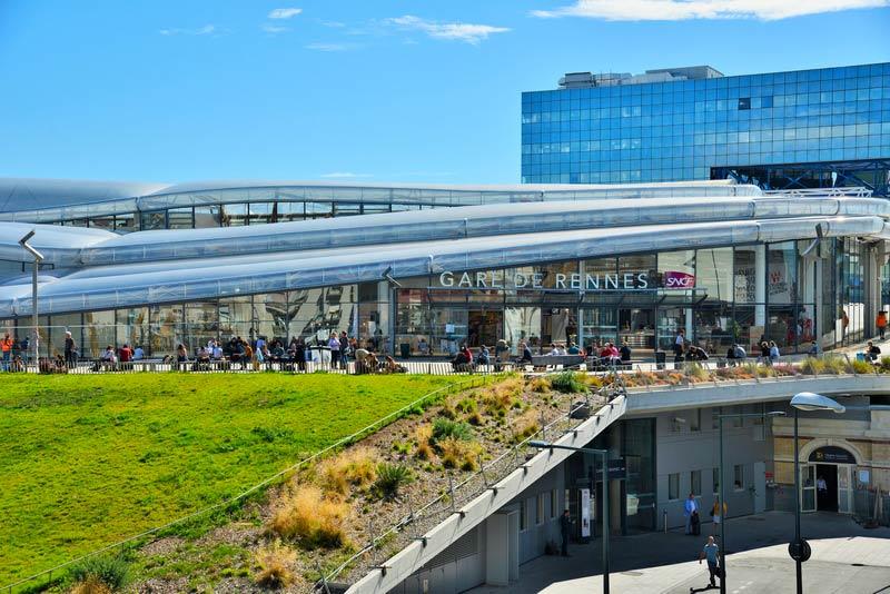Vue extérieure de la gare de Rennes