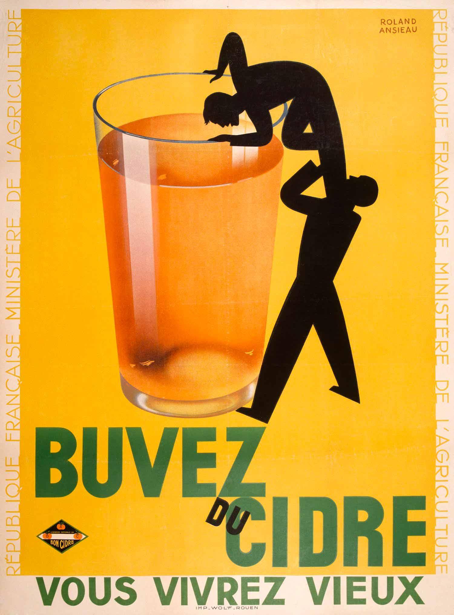 Affiche publicitaire : Buvez du cidre