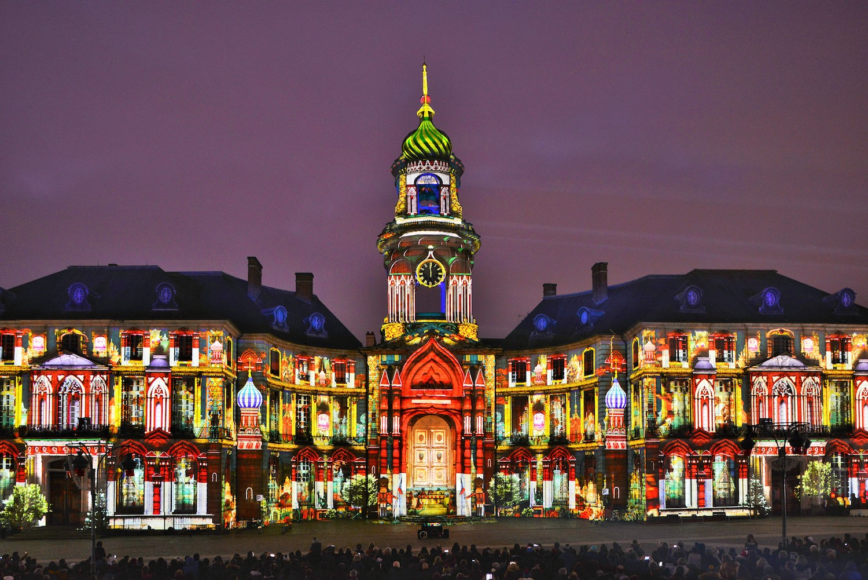 Illuminations de la mairie de Rennes