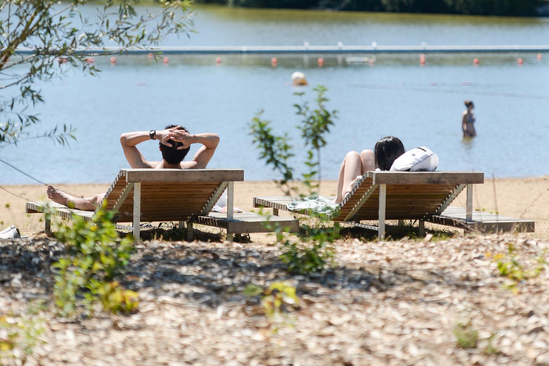 Sur la plage des étangs d'Apigné à Rennes