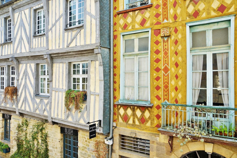 les maisons à pans de bois à Rennes
