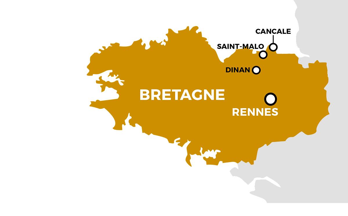 Parcours du séjour Dinan, Saint-Malo, Cancale