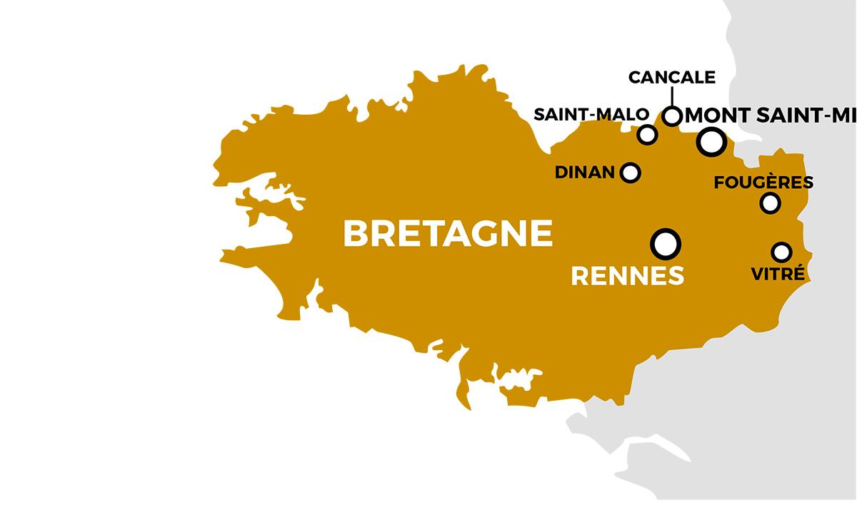 Parcours du séjour Rennes - Mont Saint Michel