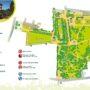 Le plan du parc du Thabor à Rennes
