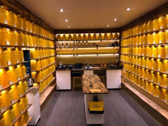 Aperçu de l'intérieur de la boutique Tea & Cie de Rennes
