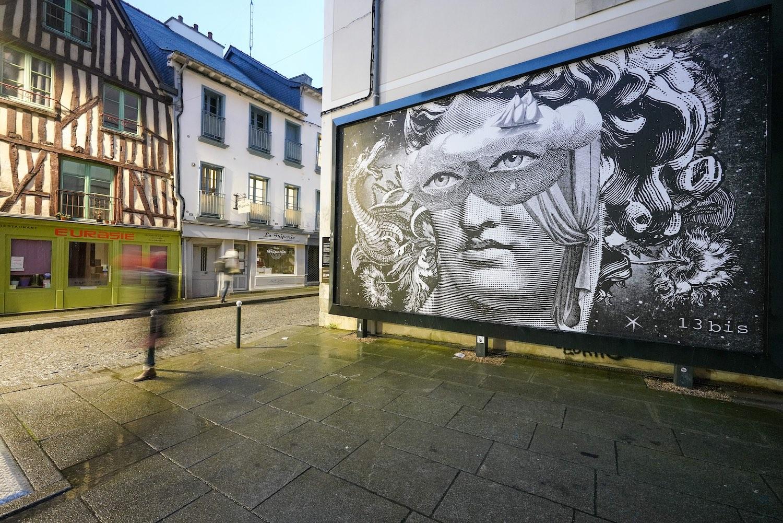 Oeuvre de 13bis sur le Mur de Rennes